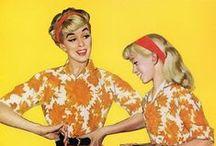 Fifties inspiratie / Dat waren nog eens tijden. De vrouw op haar allermooist, volop kleur en mooie stijlvolle designs. Hier kun je lekker rondmijmeren.  Those were the days. Dresses and designs to die for.