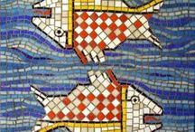 Here Fishy Fishy! / Fish Inspired Mosaics, by me and fish I have admired and found elsewhere!