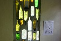 Frascos botellas y corcho / Vidrio