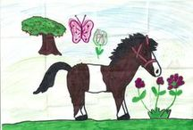 children's drawings / Let me share with you my daughter's drawings.