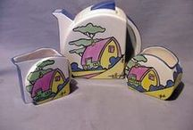 Teapots by Clarice Cliff