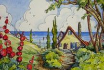 Storybook Cottages / Quaint and cute illustrations of houses that belong in story books