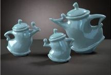 Whimsical Teapots / Teapots - not a specific novelty design, but a bit different from the regular teapot..........a bit whimsical in fact.