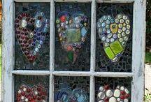 Mosaic Hearts & Crosses
