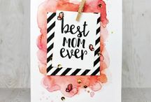 DIY - Karten mit Aquarelltechniken / Cards with Aquarell Elements Aquarell