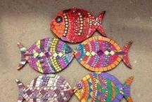 Mosaic Fish & Frogs