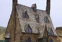 taloja, koteja, latoja, linnoja, kirkkoja - buildings