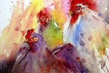 akvarelleja- water colours