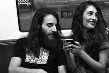 Humanos / Fotos tiradas por mi, o por otras personas, en el metro, solo en blanco y negro
