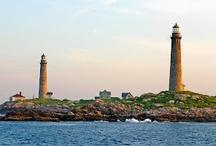 Thatcher Island Lighthouses (Twin Lights)