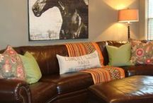 Family Room / I love these ideas for a family room.