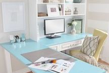 Home Office / Make your home office space a great place to work at home #WAHM Great ideas for your workspace