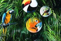 Olhar o Brasil by Chicô Gouvêa | Vista Alegre Atlantis / Created by the renowned architect Chicô Gouvêa, Olhar o Brazil is an expressive and authentic tribute to local culture, translated into a decoration full of life and colour, where each motif is carefully designed. Brazilian fauna and flora elevated to the condition of art in porcelain, in an exuberant Vista Alegre collection.