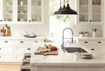 Dream Kitchens / I love sunny kitchens with marble or granite countertops. This is my inspiration board..