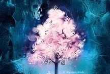 Arbol de la Vida  ♀ ♥ ♂ / El árbol de la vida simboliza el poder de la vida y sus orígenes, la importancia de las raíces y el desarrollo de la vida. / by Angeles