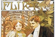 Mucha / Alfons Maria Mucha (24 July 1860 – 14 July 1939), often known in English and French as Alphonse Mucha, was a Czech Art Nouveau painter and decorative artist, known best for his distinct style. He produced many paintings, illustrations, advertisements, postcards, and designs.