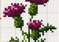 Cross stitch / Hand embroidered home decor