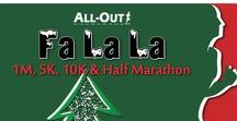 All-Out Fa La La / Deck your halls this season with some sweet race SWAG at All-Out's Fa La La! Centrally located between Denver & Boulder just a mile off US-36 at Westminster's award-winning City Park, along with its Endless Series sidekick in July… Dog Days, the majesty of our breathtaking Flatirons as a backdrop will inspire you every step of these 1M, 5K, 10K & Half Marathon courses along Big Dry Creek Trail… well known as a Colorado favorite.
