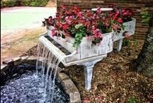 Garden Water Features / garden water features / by Redding Garden Club