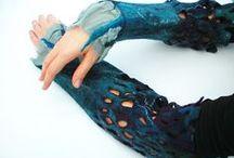 FELT mittens, fingerless gloves & wrist wraps / felt - vilte mittens, gloves, fingerless gloves, wristbands, wrist wraps