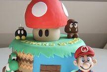 festa decoração festa games / Mario Bross - Minecraft
