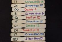 Numeracy ideas / Ideas to use in Numeracy lessons
