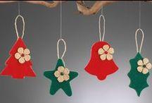 Χριστουγεννιατικα διακοσμητικα απο τσοχα Christmas decorative felt