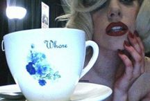 Lady Gaga's tea cup and saucer I made her and pictures I like of Lady Gaga. / Lady Gaga and things