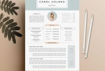 Beautiful Resume Design Template / If you are looking for beautiful resumes design for applying your dream career, this board is perfect for your needs!   Follow us to keep the latest update!