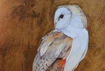 Owls in illustrations