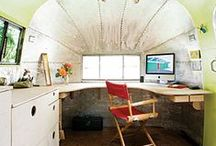 Airstream / Office / Running out of room for an office at home? Fancy the idea of an office or a meeting room that can move locations? Take a peek...