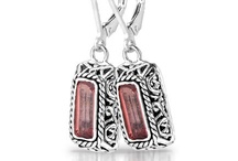 Sara Blaine Tiles Collection / The Tiles Collection, designed by Sara Blaine is sterling silver jewelry with semi-precious gemstones.