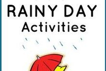 Rainy Day Activities / Fun activities the kids will enjoy, whether stuck indoors on a rainy day or splashing in puddles!