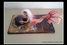 sirene ooak / Art Créatif , sculpture pâte sculpey