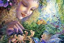 Josephine Wall / Josephine Wall es una artista inglesa, considerada como la artista de la fantasía. Sus pinturas tienen una clara influencia de las obras de Arthur Rackham.