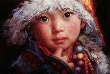 BARRY YANG / Barry Yang nació en China y comenzó a pintar a la temprana edad de seis años. Su interés por el arte le dio la oportunidad de estudiar con un artista consagrado en la zona, antes de ser finalmente aceptado en la universidad local de las bellas artes. Barry luego encontró trabajo con el periódico de propiedad estatal como el Editor de Arte y Diseño.