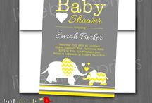 Yellow and Grey Baby shower  / Ideas for 2 special people