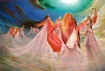 Freydoon Rassouli  / Rassouli es un artista visionario, conocido por su estilo único de Fusionart. Nació en Isfahan, Irán y emigró a Estados Unidos cuando era joven. Actualmente vive en el sur de California. Guiado por su tío Sufi, Rassouli creció escuchando y leyendo poesía mística, mientras estudiaba con maestros de la pintura, y buscando ansiosamente volúmenes de las obras artísticas de diversas tradiciones y estilos. Vagó por los museos de arte,... ganó premios por sus pinturas,