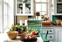 Kitchens I Love / Ideas for kitchen layouts, appliances, counters, cabinets, colors, storage.