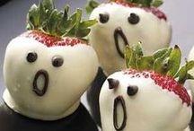 Boo! Treats and eats. / Ghoulishly good edibles.