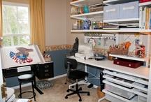 My Arts & Crafts Room! / My new arts & crafts, sewing, etc. room.  I'm still getting it set up!