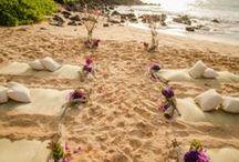 Maui Styled Beach Weddings | Wedding Details & Decorations / See styled beach wedding ideas and wedding details. Also see wedding decor for destination weddings by wedding planner Simple Maui Wedding.