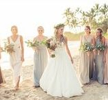 Bridesmaid Dresses and Accessories / See bridesmaid dresses and their fun bridesmaid accessories from real weddings in Maui, Hawaii.