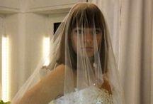 Wedding gowns in our showroom - Abiti da sposa nel nostro atelier / Wedding gowns in our showroom; some of them are designed just for us. Abiti da sposa del nostro atelier, alcuni dei quali disegnati in esclusiva.