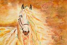 Colored Pencil & Pastels / I love to do colored pencil paintings and admire the work of others!