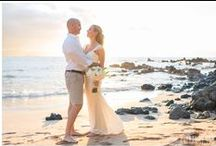 Maui Weddings -- Sunset timeframe / Evening weddings in Maui have a soft, dreamy look with the sun lowering over the ocean. These are all real weddings by Simple Maui Wedding coordinated to include sunset portraits for the bride & groom