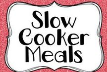 Slow Cooker Meals / Slow Cooker Meals... for the more organised teacher.