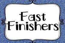 Education - Fast Finishers / Fast finisher ideas to keep those hard workers occupied and engaged.