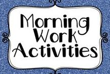 Education - Morning Work Activities / Morning work activities to keep those little hands busy while you manage the morning chaos.