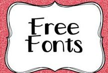 Free Fonts / Free fonts for you to download and use to enhance the presentation of your classroom displays and worksheets.